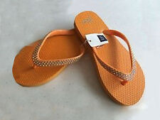 NWT Girl's GAP Flip Flop Sandals Orange Rhinestones Summer Shoes Beach SIZE 3/4