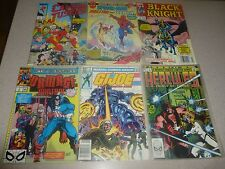 Lot 6 Vintage Comic Books Black Knight Spider-Man Captain Justice Hercules GIJoe