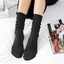 Women Cashmere Knee Thigh-High Thick Solid Boot Socks Soft Winter Warm