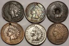 Lot of 6 Better Grade Details Indian Head Cents 1895-1906 Full LIBERTIES on 5