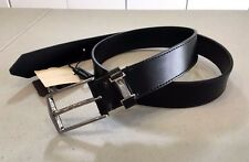 NEW! Men's BURBERRY 'DORE' 100% Calf LEATHER Belt, Size 30 - BLACK