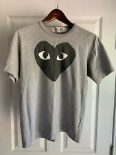 Commes des Garçons Play Logo Men's T-Shirt - Grey - Large