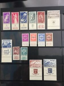 Israel Stamps 1951 full complet year with full tabs  m.n.h.