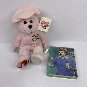 "I Love Lucy Chocolate Factory Bear Plush Stuffed Collecticritters 8""  & Notepad"