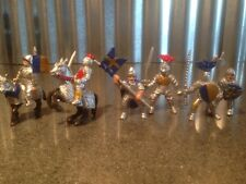 Lot of Safari Ltd 6 Figures & 2 Horses Knights Medieval