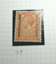BRITISH BECHUANALAND POSTAGE STAMP SG77 KGV 2 PENCE ORANGE MNH