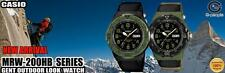 Casio MILITARY ANALOGIC WATCH BLACK strap US ARMY MARINE CORPS SOLDIER rangers