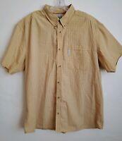 Columbia Mens Striped Plaid Short Sleeve Shirt size XXL