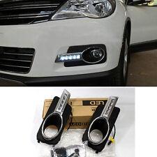 LED Driving Lamp daytime Running Lights DRL For VW Volkswagen Tiguan 2009-2012