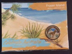 AU - 2012 - FRASER ISLAND - ONE DOLLAR COLOUR CARDED COIN