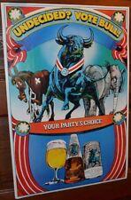 1980 Schlitz Beer Poster Political Presidential Themed Democrat Republican