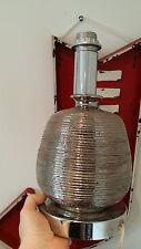 LAMPE 1970 EFFET CHROME 35 CM POTERIE ET METAL 70'