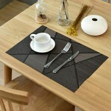 Heat Resistant Placemats Non-slip Table Mat Coasters Waterproof Durable Pad 4pcs