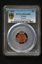 1 ct Dupuis 1920 ; PCGS : MS 66 ; FDC