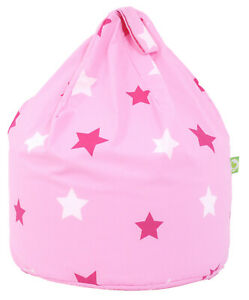 Child Size Pink Stars Bean Bag With Beans By Bean Lazy