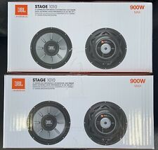 "2 JBL STAGE 1010 1PR. 10"" Single 4 Ohm Subwoofers 10-inch Woofers 1800 Watts MAX"