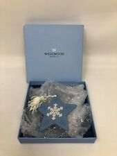 Wedgwood Jasperware Blue Snowflake Star Christmas Ornament