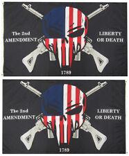 2nd Amendment Liberty Or Death 1789 100D Woven Poly Nylon 2-Sided 3x5 3'x5' Flag