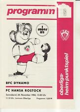OL 84/85 BFC Dynamo Berlin - FC Hansa Rostock