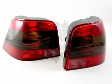 NEW VW DEPO MK4 Golf Euro R32 Style Black Smoked Tail Light Set Kit '99-06