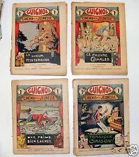 316C/ LOT DE 4 GUIGNOL 1936 CINEMA /JOURNAL ANCIEN HEBDMADAIRE ILLUSTRATIONS