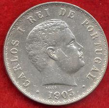 RARE 500 REIS 91%SILVER PORTUGAL COIN 1903 12.6gr. Minted 680.000 Units!!!!!!!!!