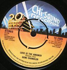 """Gene Chandler amor es la respuesta TC 2505 Reino Unido Chi mordedura de sonido 81 7"""" WS EX/"""