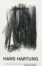 Hans HARTUNG (1904-1989) Affiche en lithographie de 1963. La Galerie Im Erker.