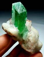 172-GM-HIDDENITE-D.FREE-CRYSTAL-GREEN-KUNZITE-SPECIMEN-SPODUMENE-WITH-ALBITE-AF