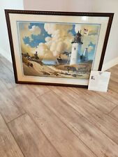 "SIGNED Charles Wysocki ""Dreamers"" 1989 40"" x 32"" in frame Limited Edition #2948"