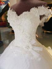 Lace white/Ivory Beading Wedding Dresses Custom Bridal Gowns Dance dresses