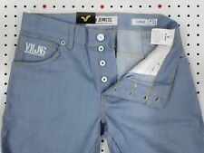 NWT Designer VOI Jeans SLIM & TWISTED Non-Distressed COOL BLUE Curved Twist v6