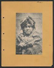 1895 AUK INDIAN DOCTOR ALASKA Native American Vintage Print WINTER & POND