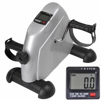 Digital Pedal Exercise Machine Cycle Fitness Exerciser Bike Stationary Silver
