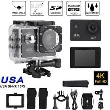 Sports 2'' 4K HD Video Action Camera Camcorder w/ Waterproof Case Extension Kit
