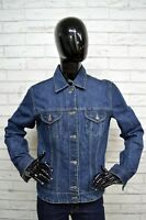 Giacca Jeans GAS Donna Taglia Size XL Jacket Blu Woman Denim Scuro Bottone
