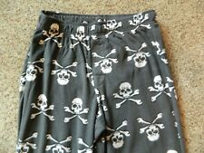 Skull & Crossbones mens XL gray lounge pants