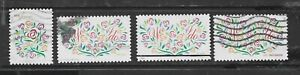 HEARTS OF ROSES -YES, I DO #4764 46c,4768 66c, 4881 70c, 5001 71c Used US Stamps