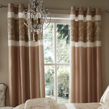 Catherine Lansfield Solid Jacquard Curtains & Pelmets