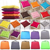Home Chair Office Seat Pads Tie on Cushion Garden Patio Kitchen Dining Square