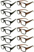 Reading Glasses [+2.50] 6 Black 6 Tortoise Plastic Frame  Wholesale Reader 2.50