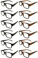 Reading Glasses [+3.00] 6 Black 6 Tortoise Plastic Frame  Wholesale Reader 3.00