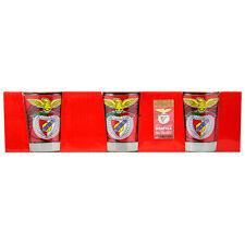 SL Benfica Set of 3 Shot Glasses Officially Licensed Product Ref BEN0859