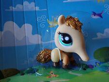 Littlest Pet Shop Glitter Anteater gold sparkle #2133 Loose Figure