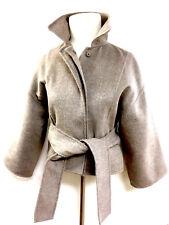 OSCAR de la RENTA Taupe Double-Face Cashmere Cropped Belted Jacket Sz6 Est.