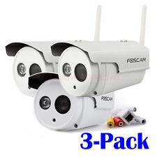 3-Pack Foscam FI9803P Waterproof 720P HD 1.0MP Wireless Surveillance IP Cameras
