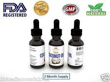 Pure Fractionated Coconut Oil Drops Diet Organic Pills Liquid Pressed Lose Weigh