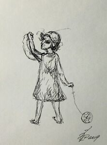 """Original drawing pen ink paper 8x6"""" 2020 sketches by Pronkin CONTEMPORARY ART 17"""