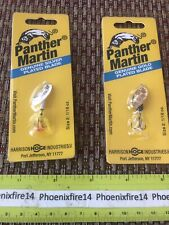2 New Panther Martin Sliver Plated Gold Plated Size 2 1/16 Oz Spinnerbait