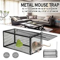Large Metal Mouse Trap Humane Live Catcher Rat Vermin Rodent Cage Trap